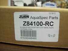"Zurn AquaSpec Z84100-RC Sink Faucet With 2 1/2"" Swivel Inlets & Integral Stops"