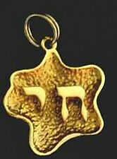 LOOK Chai Jewish Gold plated over Sterling Silver Pendant Charm Jewelry