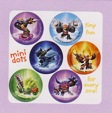 90 Skylanders Mini Dot Stickers - Party Favors - Rewards