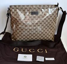 GUCCI Damen Herren Unisex Tasche Messenger Original Crystal GG Canvas