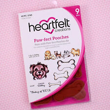 Heartfelt Creations Cling Rubber Stamp Set ~ Paw-Fect Pooches, HCPC3760 ~ NIP