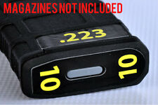 .223 MAGAZINE STICKERS fits MAGPUL PMAG 30 GEN M3 AR15-M4 YELLOW NUMBERS 7-12