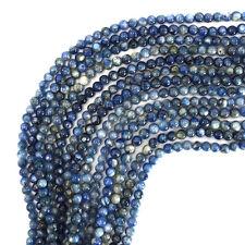 """4mm blue kyanite round beads 15.5"""" strand S2"""
