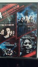 Final Destination Collection: 4 Film Favorites (DVD, 2010, 2-Disc Set, WS)