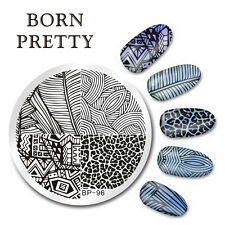 BORN PRETTY Nail Art Stamping  Line Stripe Design Image Plate Stencil DIY BP-96
