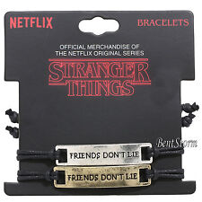 Netflix Original Stranger Things Friends Don't Lie Best Friend Cord Bracelet Set