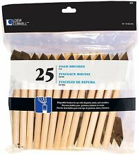 Loew Cornell 842 25-Piece Foam Brush Set, 1-Inch acrylics Wood handle AOI New