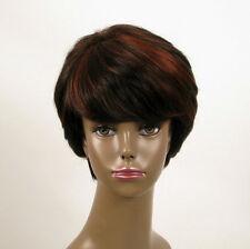 perruque femme afro 100% cheveux naturel courte méchée noir/rouge WHIT 05/1b410