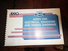 1990 Astro Van Electrical Diagnosis & Wiring Diagram Manual, Free USA Shipping