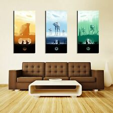 #TH1001 HD Canvas Print Home decor Art painting(No frame) Star Wars trilogy 3PCS