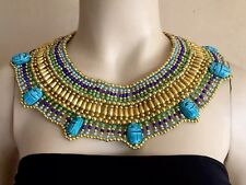 Shipped From U.S. Egyptian Queen Cleopatra Beaded Collar Necklace Costume