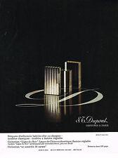 PUBLICITE  1970   DUPONT   briquets d'Orfèvrerie LIGNE DU SOIR