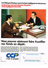 PUBLICITE ADVERTISING 014   1972   LA POSTE   les chéques postaux banque