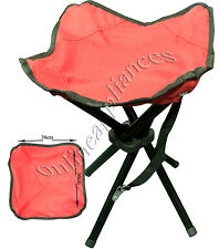 PORTABLE HEAVY DUTY 4 LEGS CAMPING STOOL FOLDING CHAIR SEAT FISHING HIKING BBQ