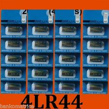 20 Piles Alcaline 4LR44 6V Eunicell 4A76 Collier Chien