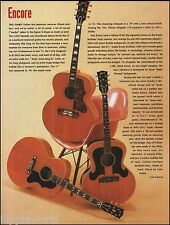 Gibson postwar Jumbo J-200 J-180 J-185 acoustic guitar 1993 article 8 x 11 pinup
