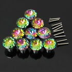 30mm Knobs Handle Crystal Clear Glass Cupboard Wardrobe Cabinet Door Drawer New