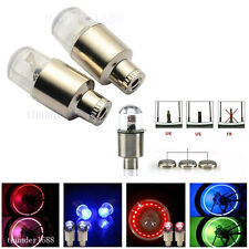 2Pcs Colorful LED Wheel Tyre Tire Air Valve Stem Caps Light For Harley-Davidson