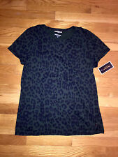 JUICY COUTURE JUNIPER GREEN LEOPARD SHIRT ORG. $68.00 SIZE LARGE BNWT
