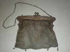Genuine Antique Victorian German Silver Mesh/Chainmail Purse for Parts/Repair