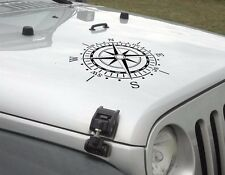 Compass hood vinyl decal sticker fits to WRANGLER Rubicon