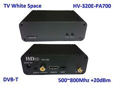 HV-320E-PA700 FPV/TVWS FullHD Video Transmitter 100~2500Mhz, HDMI/CVBS to DVB-T