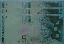 RM5 Zeti sign Paper Note X 3 pcs