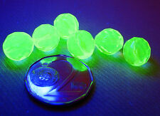 URANIUM Czech Vaseline glass fire polished faceted round beads 10mm 10 pcs.