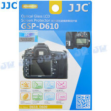JJC HD Optical Tempered Glass LCD Screen Protector for Nikon D610 D600 Camera
