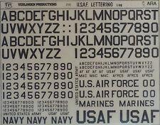 VERLINDEN PRODUCTIONS #0250 USAF Lettering (Black) in 1:48