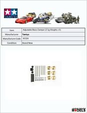 Mini 4wd Adjustable Mass Dampers (2.5g Weights x 6) Tamiya 95324 New Nuovo