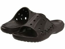 NEW CROCS SANDALS SHOES FLATS BAYA SLIDE Size M 7 W 9 Espresso Brown
