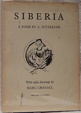 Siberia, A Poem with Eight Drawings by Marc Chagall.  First English Edition.