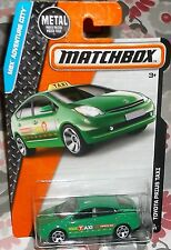 2016 Matchbox MBX Adventure City #9-125 Green Toyota Prius Taxi Diecast 4+ Boys