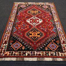 Orient Teppich Rot Grün 158 x 117 cm Perserteppich Handgeknüpft Red Carpet Rug