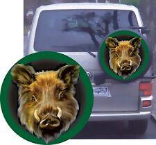 Wildschwein Keiler Jagd Aufkleber Reserve Rad Aufkleber