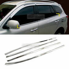 Chrome Window Under Line Sill Trim Moldings 4P For HYUNDAI 2006-12 Santa Fe CM