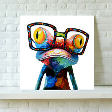 Abstract Wall Art Happy Sunglasses Frog On Canvas Prints Picture Poster Unframed