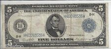 1914 Large $5 Federal Reserve Note - White/Mellon