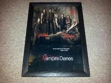 "THE VAMPIRE DIARIES PP SIGNED & FRAMED 12X8"" PHOTO POSTER SEASON 4 PAUL WESLEY"
