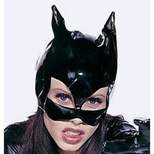 A2 - PVC Vinyl Wetlook Batman Bat Catwoman Cat Face Head Eye Mask Black One Size
