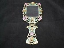 Small Dressing Table Hand Mirror - Bouquet Design.