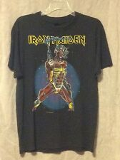 Iron Maiden 80's vintage metal concert t shirt size large ( used )