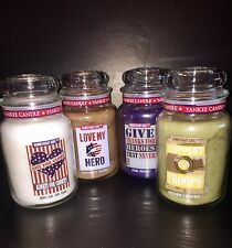 4 Yankee Candle HOMEFRONT GIRL Collection 22 Oz Jars Each