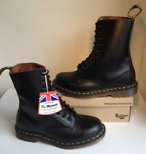 Bnwt! Sz6 England Dr. Martens 1490 Vintage Collection Black Leather Boots Eu39