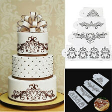 Lace Flower Cake Cookie Fondant Side Baking Wedding Stencil Decor DIY Tools HF