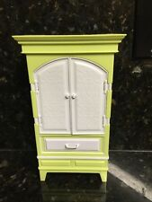 2007 BARBIE MY HOUSE ARMOIRE DESK Cabinet Office Bedroom Furniture Dollhouse