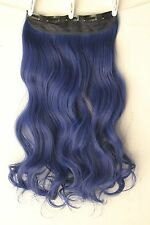 Gorgeous One Piece Colorful Clip in Hair Extensions Cosplay Blue Purple Pink