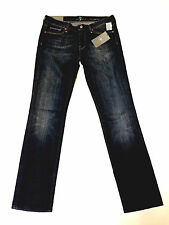 7 For All Mankind-Straight Leg Fit-NuevaYork Oscuro-Talla 31 En La Cintura - 21.000 + f/bk!