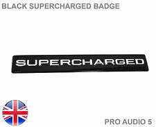 Black Supercharged Badge - Super Charger Universal Sticker Car Van Truck UK